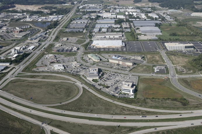 An aerial view of the Discovery Springs development in Milddleton, Wisconsin