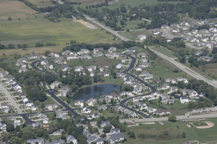 An aerial view of Gateway Estates development - Verona, Wisconsin