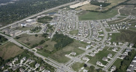 An aerial view of the Grandview Campus in Madison, Wisconsin