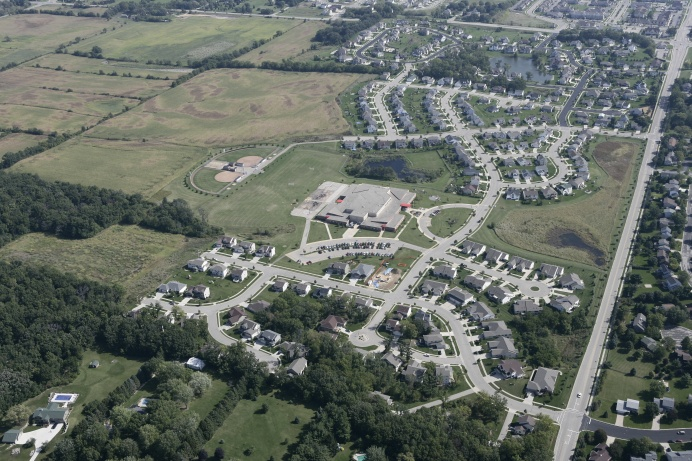 An aerial view of Kettle Creek development - Verona, Wisconsin